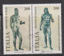 Italy Republic S 1573-1574 1981 Riace Bronzes ,used - 1971-80: Used