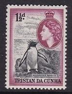 TIMBRE NEUF DE TRISTAN DA CUNHA - GORFOU SAUTEUR N° Y&T 16 - Pingouins & Manchots