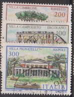 Italy Republic S 1577-1579 1981 Villas 2nd Issue ,used - 1971-80: Used
