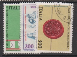 Italy Republic S 1582-1584 1981 Stamp Day ,used - 1971-80: Used