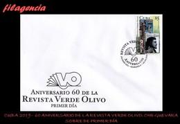 AMERICA. CUBA SPD-FDC. 2019 60 ANIVERSARIO DE LA REVISTA VERDE OLIVO. CAMILO CIENFUEGOS & ERNESTO CHE GUEVARA - FDC