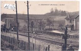 CHAUDENAY- LA GARE AVEC TRAIN- PLAN RARE - Autres Communes
