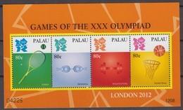 Palau 26.03.2012 Mi # 3184-87 Kleinbogen, London Summer Olympics, MNH OG - Verano 2012: Londres