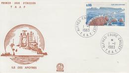 Enveloppe   FDC   1er  Jour   T.A.A.F   Ile  Des  Apôtres   1983 - FDC