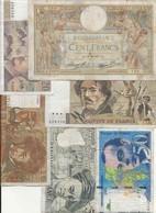 LOT  DE 6  BILLETS  FRANCAIS - 1962-1997 ''Francs''