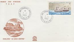 Enveloppe   FDC   1er  Jour   T.A.A.F   Chaland   LE  GROS  VENTRE   1983 - FDC