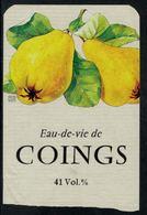 Etiquette De Eau-de-vie De Coings - Autres