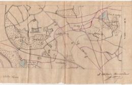 Plans Sur Papier Calque - Position Fortifiée De Namur 13e Régiment De Ligne - 14 Mars 1907 - Documents