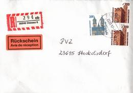 ! 3 Einschreiben Mit R-Zetteln, 1996-97 Aus 06846, 06862 Dessau, Rosslau, Neue Postleitzahl - [7] Repubblica Federale