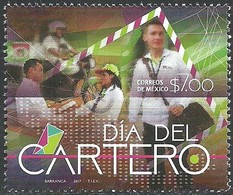 2017 MÉXICO Día Del Cartero MNH Mailman Day MOTORCYCLE STAMP MNH COMMUNICATION - Messico