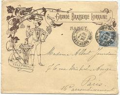 SAGE 15C LETTRE ENTETE GRANDE BRASSERIE LORRAINE NANCY 7 OCT 1900 - 1877-1920: Periodo Semi Moderno
