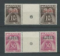 ALGERIE 1947 . Taxes N°s 33 Et 34 En Paire Avec Millésimes . Neufs ** (MNH) - Algeria (1924-1962)