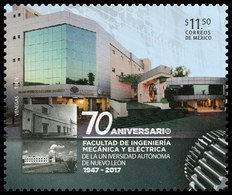 2017 MÉXICO Facultad De Ingeniería Mecánica Y Eléctrica MNH MECHANICAL AND  ELECTRICAL ENGINEERIN BUILDING Gear Wheels - Messico
