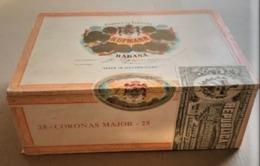 BOITE CIGARES HUPMANN EN BOIS LA HAVANE CUBA - 20 X 15 X 7,5 Cm - FIN ANNEES 1960 - 5 SCANS - Contenitori Di Tabacco (vuoti)