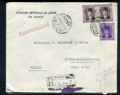 Egypte - Enveloppe De La Légation Du Japon Au Caire En Recommandé Pour La France En 1939 - Réf JJ 231 - Storia Postale