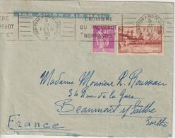 Lettre 1939 Des USA Pour La France Oblit. RBV Croisière Normandie New York à Rio - Maritime Post