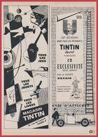 Magasin Tintin, Paris. Tous Les Jeux, Jouets Et Livres Et  Écusson Tintin Sport Sur Les Vêtements Tintin. 1909. - Reclame