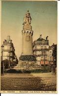 """10 - Troyes - Monument """"Les Enfants De L'Aube"""" 1870 - Troyes"""