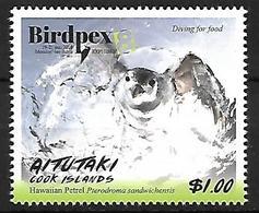 AITUTAKI - 2018 - MNH - BIRDPEX -     Hawaiian Petrel    Pterodroma Sandwichensis - Marine Web-footed Birds