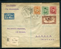 Egypte - Enveloppe En Recommandé Du Caire 1929 Par Avion Pour Londres - Prix Fixe - Réf JJ 263 - Storia Postale