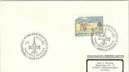 ITALIA. BUSTA.  50° 1° GRUPPO DI AVIAZIONE DI CACCIA ROMA AEROPORTO 1993 - Seconda Guerra Mondiale