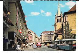 Cpsm Lausanne - Place Et Eglise St-François (édit. Bovery & Cie). - VD Vaud