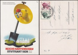 Germany - Postcard, Sonderpostkarte 'Reich - Gartenschau STUTTGART', Mi. 692, 693 MiF + SST. Stuttgart 31.5.1939. - Duitsland