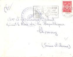 Timbre F.M. N°12 Oblitéré VERDUN MEUSE Cachet 150° REGIMENT D'INFANTERIE MOTORISE - Marcophilie (Lettres)