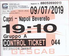 ITALIA -2019 -  CAPRI- NAPOLI - 2 X Ticket For Boat Trip -voyage En Bateau  2 Scans - Europa