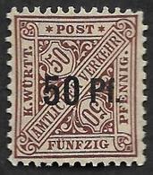 WURTEMBERG  -  Service  N°  69  - NEUF** - Cote 3e - Wurtemberg