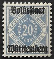 WURTEMBERG  -  Service  N°  106  - NEUF** - Wurtemberg