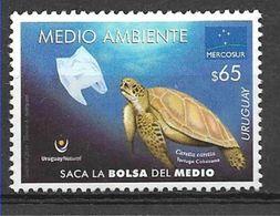 Uruguay 2019 Turtles 1v MNH - Turtles
