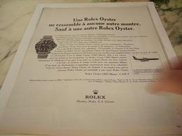 ANCIENNE PUBLICITE  MONTRE ROLEX OYSTER  1966 - Other