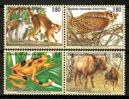 United Nations 1995 ONU  / Birds Mammals Frog MNH Aves Ranas Vögel Säugetiere / Cu12413  41-40 - Pájaros