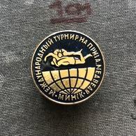 Badge Pin ZN008638 - Wrestling International Tournament Soviet Union (USSR SSSR CCCP) Belarus Minsk 1975 - Worstelen