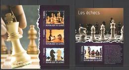 RR528 2014 GUINEE GUINEA SPORT CHESS LES ECHECS KB+BL MNH - Chess