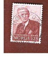 NORVEGIA  (NORWAY)    SG 845  -   1979 J. FALKBERGET, NOVELIST   -   USED ° - Norvegia