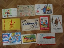 BUVARD BLOTTING PAPER  LOT DE 10 ALIMENTATION HUILE ECRITURE CADEAUX - Collections, Lots & Series