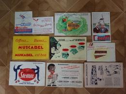 BUVARD BLOTTING PAPER  LOT DE 10 ALIMENTATION LAINE POSTILLON MUCABEL - Collections, Lots & Series
