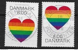 """Danemark 2017 N° 1873/1874 Oblitérés Coeur Arc En Ciel. """"pride"""" - Danimarca"""