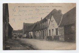 - CPA BUCQUOY (62) - La Rue De La Carte - Publicité LE BON MÉDECIN DANS LA FAMILLE - Edition 1931 - - France