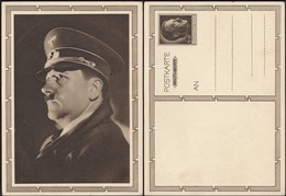 Germany 1939 - 6+19 Pf. Stationery Postcard {Mi.P278-02, Hitler Mit Mütze} GA - Postkarte. - Deutschland
