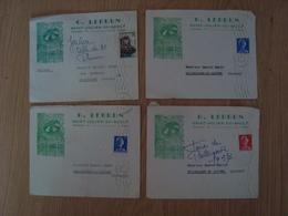 LOT DE 4 ENVELOPPES G. LEBRUN SAINT-JULIEN-DU-SAULT 1957 - Marcophilie (Lettres)