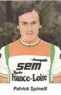 Cyclisme, Patrick Spinelli - Cyclisme