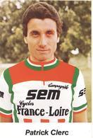Cyclisme, Patrick Clerc - Cyclisme