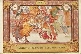 Prag Jubilaums Ausstellung 1908 Art Card Art Nouveau  International Schachturnier A. Hausler Chess Jeu Echec - Tschechische Republik