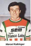Cyclisme, Marcel Kaikinger - Cyclisme