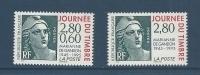 """FR YT 2933 & 2934 """" Journée Du Timbre """" 1995 Neuf** - France"""