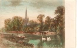 """F.W.Hayes.Holy Triinity Church. Atratford-on-von"" Tuck Real Pgitigraph Ser PC #5105 - Tuck, Raphael"