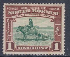 Bornéo Du Nord : Protectorat Britannique N° 242 X Partie De Série Courante : 1 C. Brun-rouge Et Vert Trace Ch. Sinon TB - Bornéo Du Nord (...-1963)